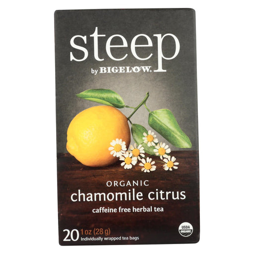 Steep By Bigelow Organic Herbal Tea - Chamomile Citrus - Case Of 6 - 20 Bags