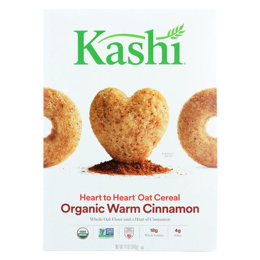 Kashi Cereal - Oat - Heart To Heart - Warm Cinnamon - 12 Oz - Case Of 12