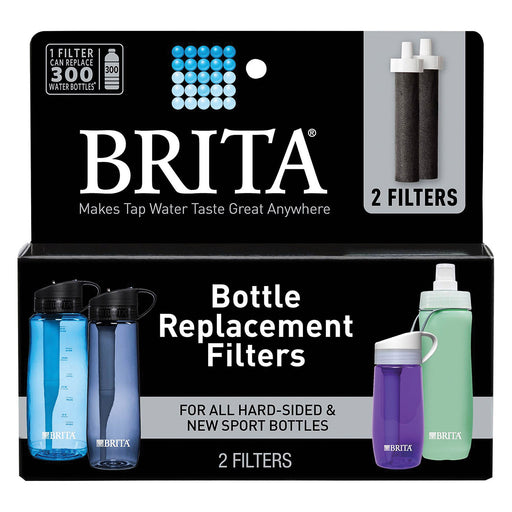 Brita Bottle Replacement Filters - Hard-sided And Sport Bottles - Case Of 6 - 2 Count