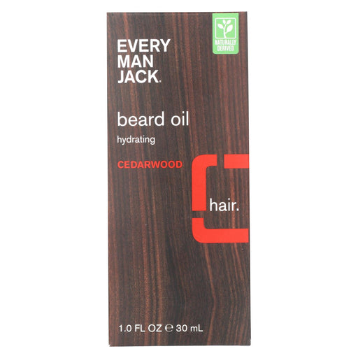 Every Man Jack Beard Oil - Cedar Wood - 1 Oz.