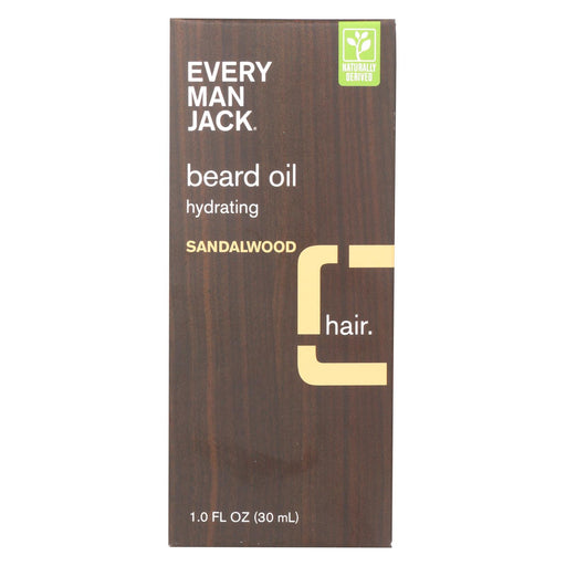 Every Man Jack Beard Oil - Sandalwood - 1 Oz.