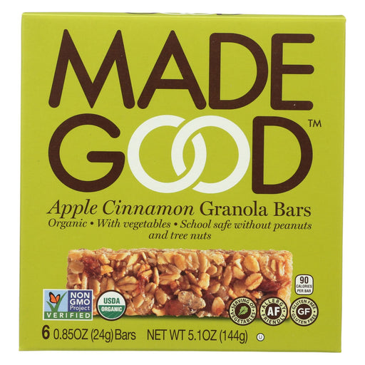 Made Good Granola Bar - Apple Cinnamon - Case Of 6 - 5 Oz.