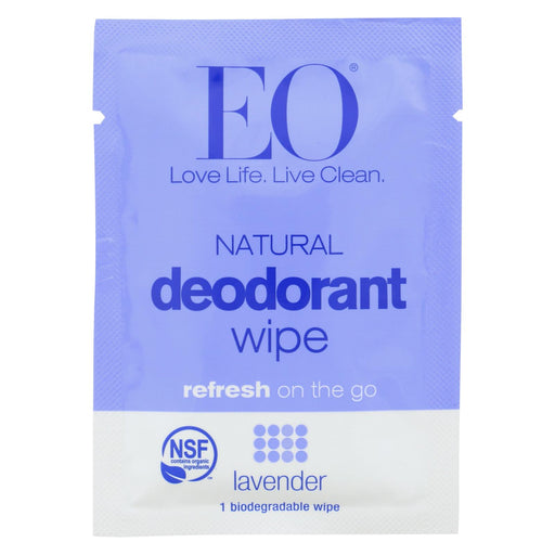 Eo Organic Deodorant - Wipes Lavender - Case Of 24 - 1 Each