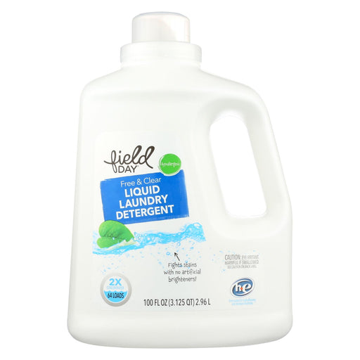 Field Day Free And Clear Liquid Laundry Detergent - Detergent - Case Of 4 - 100 Fl Oz.