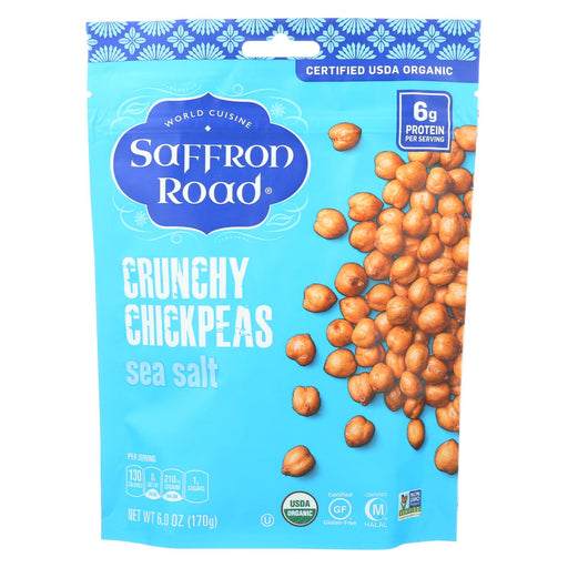 Saffron Road Crunchy Chickpeas - Sea Salt - Case Of 12 - 6 Oz.