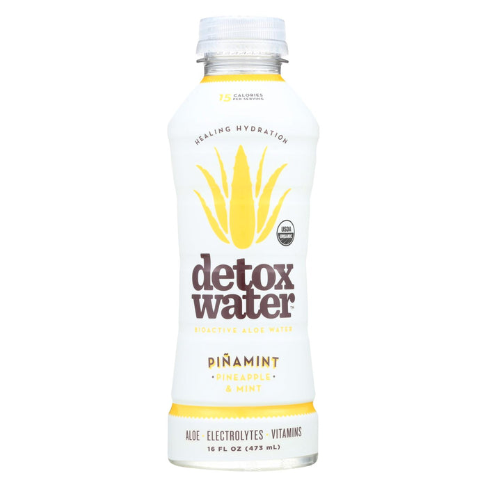 Detox Water Pina Mint Detox Water - Pineapple And Mint - Case Of 12 - 16 Fl Oz.