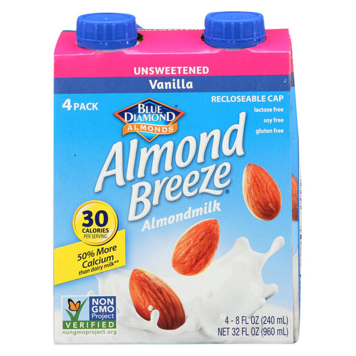 Almond Breeze Almond Breeze - Unsweetened Vanilla - Case Of 6 - 4-8 Oz