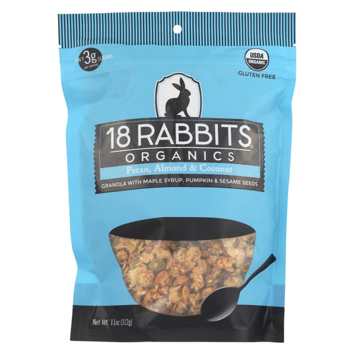 18 Rabbits Organic Granola - Pecan, Almond And Coconut - Case Of 6 - 11 Oz.