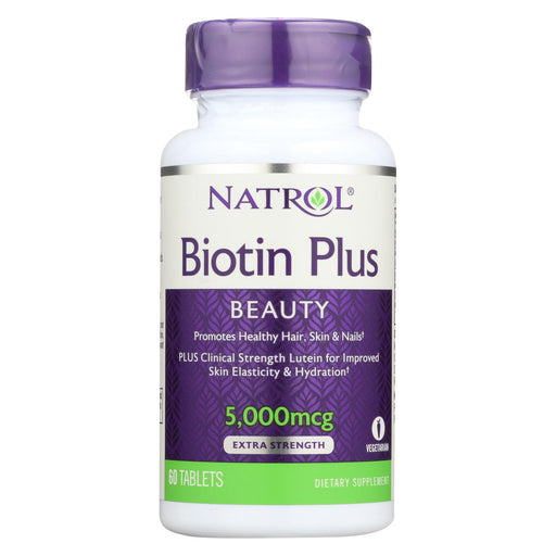 Natrol Biotin Plus With Lutein Capsules - 60 Count