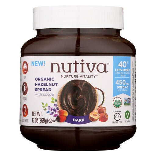 Nutiva Organic Hazelnut Spreads - Dark - Case Of 6 - 13 Oz.
