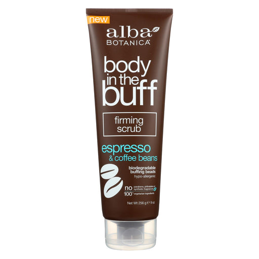 Alba Botanica Body In The Buff Scrub - Firming Espresso And Coffee Beans - 9 Oz.