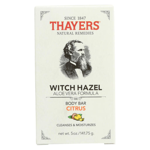 Thayers Body Bar - Witch Hazel And Citrus - 5 Oz