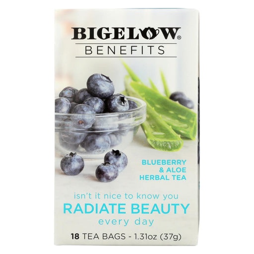 Bigelow Tea Tea - Blueberry Aloe Radiate Beauty - Case Of 6 - 18 Bag