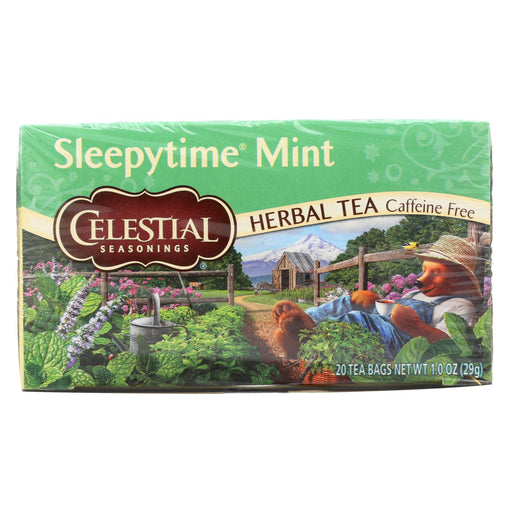 Celestial Sleepy Time Herbal Tea - Mint - Case Of 6 - 20 Bags