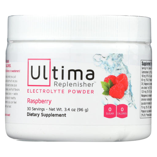 Ultima Replenisher Electrolyte Powder - Raspberry - Can - 3.4 Oz
