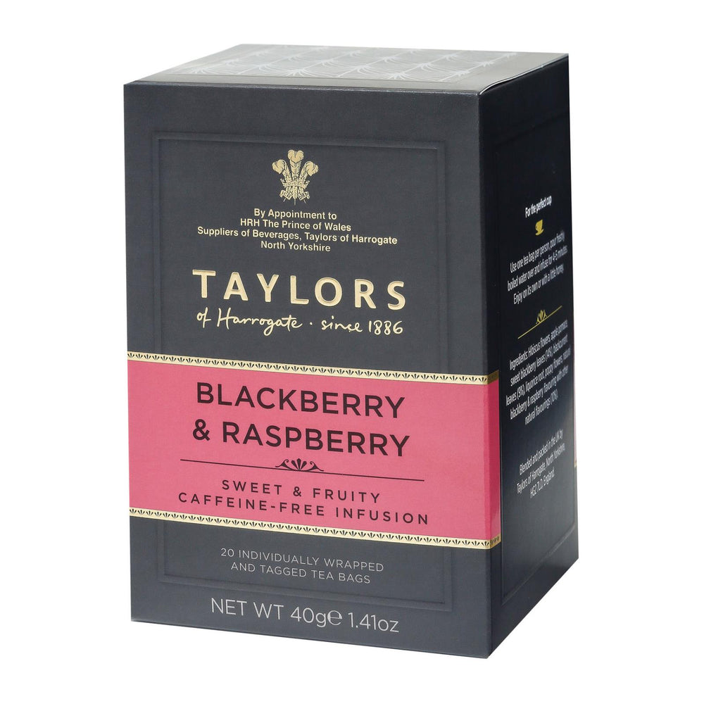 Taylors Of Harrogate Tea - Blackberry & Raspberry - Case Of 6 - 20 Bags
