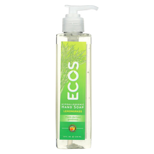 Earth Friendly Hand Soap - Ecos - Lemongrass - Case Of 6 - 8 Fl Oz