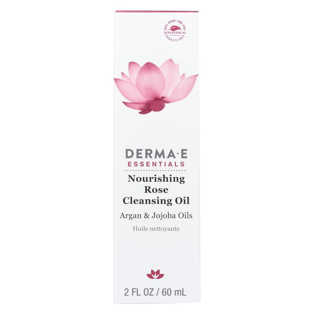Derma E Nourishing Cleanser Oil - Rose - 2 Fl Oz