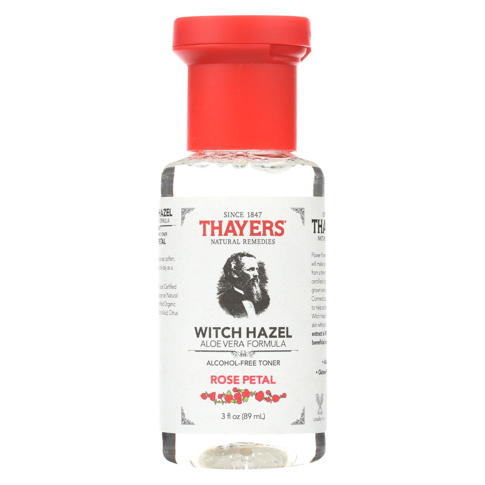 Thayers Witch Hazel - Rose Petal - Alcohol Free - Case Of 24 - 3 Fl Oz