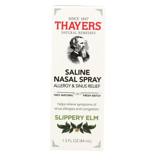 Thayers Slippery Elm - Nasal Spray - 1.5 Fl Oz