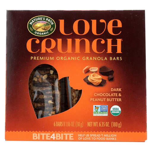 Nature's Path Granola Bar - Organic - Chocolate Peanut Butter - Case Of 12 - 6-1.06oz