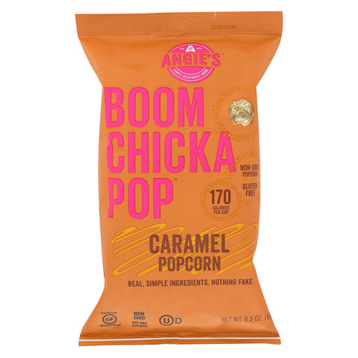 Angie's Kettle Corn Popcorn - Boom Chicka Pop - Caramel - Case Of 12 - 6.5 Oz