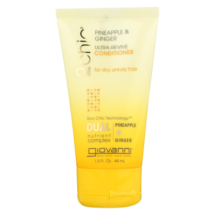 Giovanni Hair Care Products Conditioner - Pineapple And Ginger (travel Size) - Case Of 12 - 1.5 Fl Oz.