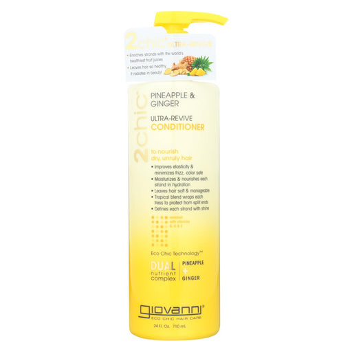 Giovanni Hair Care Products Conditioner - Pineapple And Ginger - Case Of 1 - 24 Fl Oz.