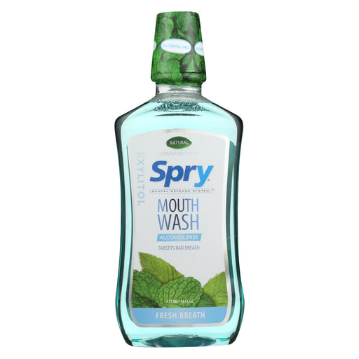 Spry Mouth Wash - Mountain Mint - 16 Fl Oz