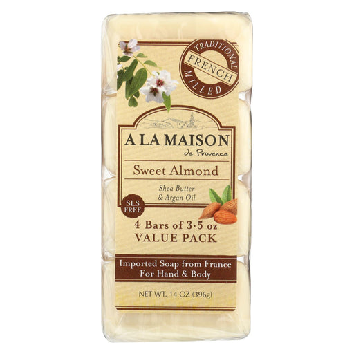 A La Maison Bar Soap - Sweet Almond - 4-3.5 Oz
