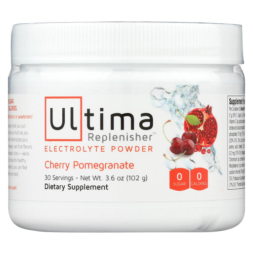 Ultima Replenisher Electrolyte Powder - Cherry - Can - 3.6 Oz
