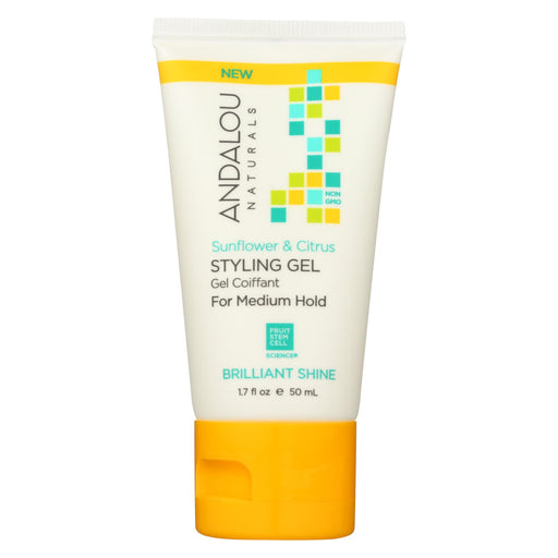 Andalou Naturals Styling Gel - Sunflower - Citrus- Case Of 6 - 1.7 Fl Oz