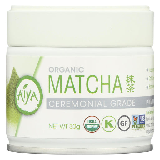 Aiya Tea - Organic - Matcha - Ceremonial - Case Of 6 - 30 Grm