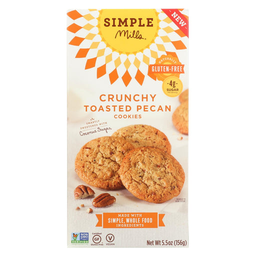 Simple Mills Cookies - Crunchy Toasted Pecan - Case Of 6 - 5.5 Oz