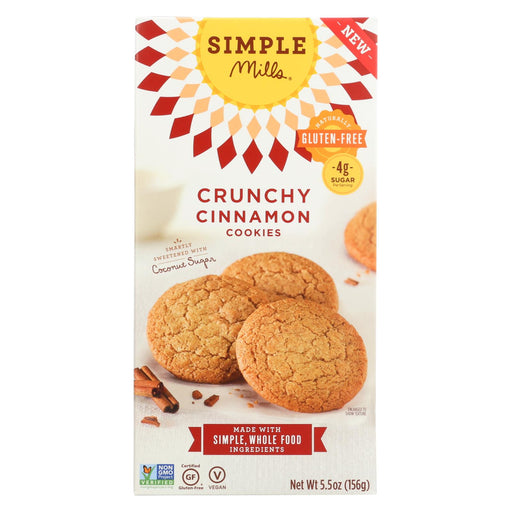 Simple Mills Cookies - Crunchy - Cinnamon - Case Of 6 - 5.5 Oz