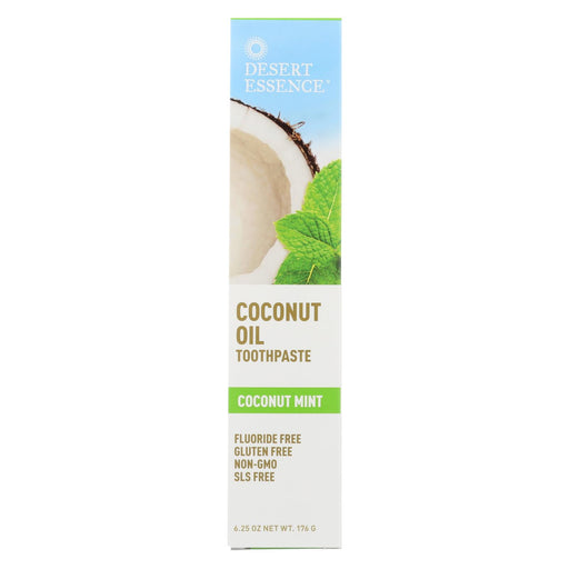 Desert Essence Coconut Oil Toothpaste - Mint - 6.25 Oz