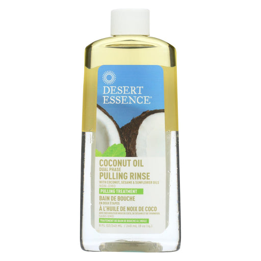 Desert Essence Pulling Rinse With Coconut Sesame And Sunflower Oils - 8 Fl Oz
