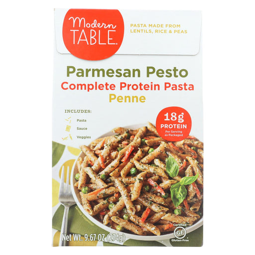 Modern Table Lentil Pasta - Meal Kit - Parmesan Pesto - Case Of 6 - 9.67 Oz