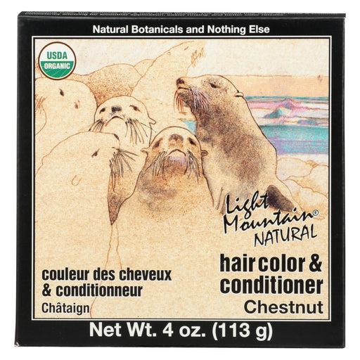 Light Mountain Hair Color-conditioner - Organic - Chestnut - 4 Oz