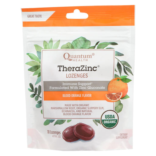 Quantum Research Thera Zinc Lozenges - Blood Orange - 18 Count