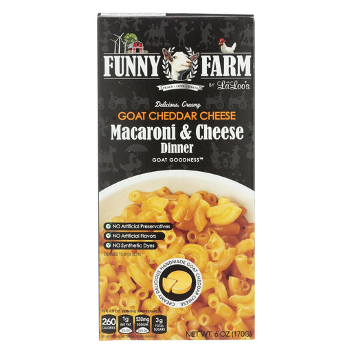 Funny Farm Macaroni & Cheese Dinner - Goat Cheddar Cheese - Case Of 12 - 6 Oz
