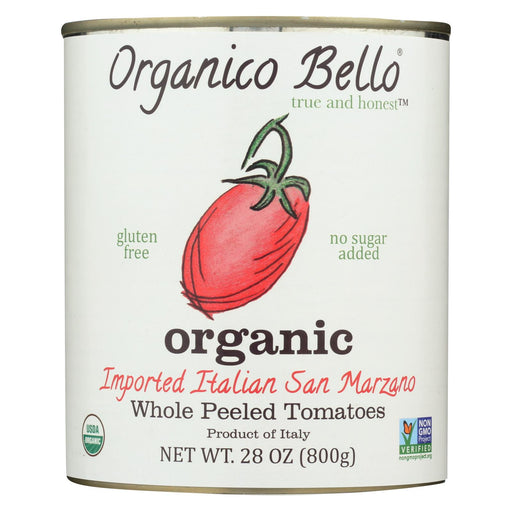 Organico Bello Tomatoes - Organic - Whole - Case Of 12 - 28 Oz