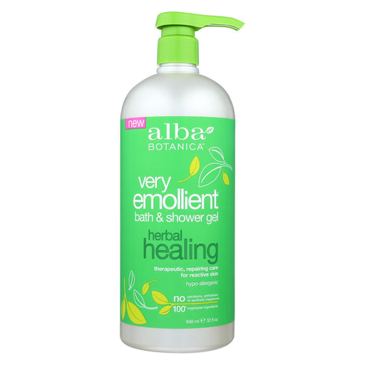 Alba Botanica Very Emollient Bath & Shower Gel - Herbal Healing - 32 Fl Oz