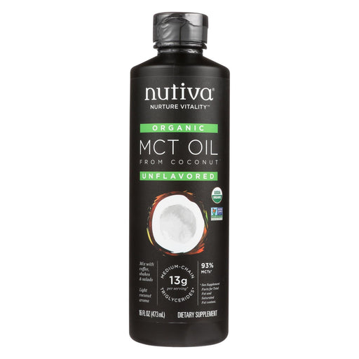 Nutiva 100% Organic Mct Oil - From Coconut - Unflavored - 16 Fl Oz