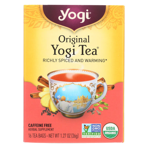 Yogi Tea - Organic - Original - Case Of 6 - 16 Bg