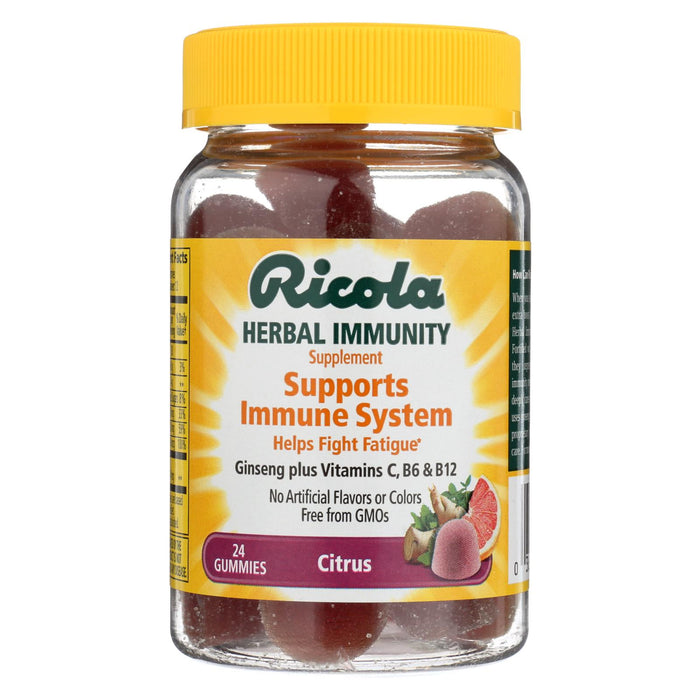 Ricola Immunity - Citrus - Gummies - Case Of 24 - 24 Count