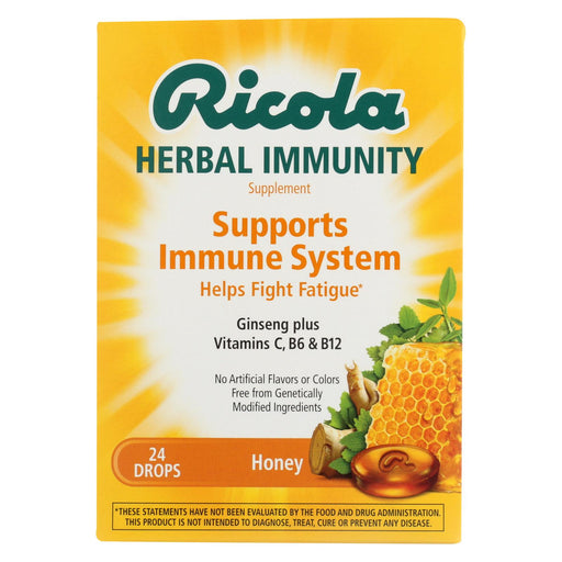 Ricola Immunity - Honey - Lozenges - Case Of 24 - 24 Count
