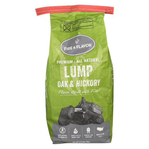 Fire And Flavor Charcoal - Oak - Hickory Lump - Case Of 4 - 8 Lb.