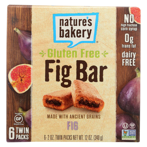 Nature's Bakery Gluten Free Fig Bar - Original - Case Of 6 - 2 Oz.