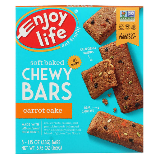 Enjoy Life Snack Bar - Carrot Cake - Case Of 6 - 5.75 Oz.
